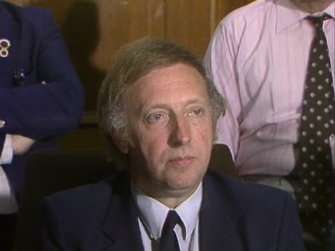 arthur scargill makes a statement on an agreement between the num and the four main transport unions regarding coal transportation during the miners... - trade union stock videos & royalty-free footage