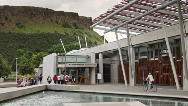 Arthur's Seat Behind Scottish Parliament