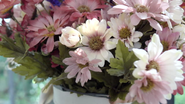 Artificial Flowers in coffee shop