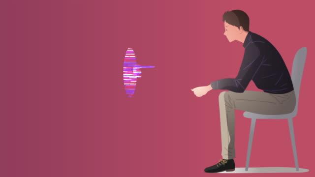 vídeos de stock e filmes b-roll de artificial intelligence and a man - design plano
