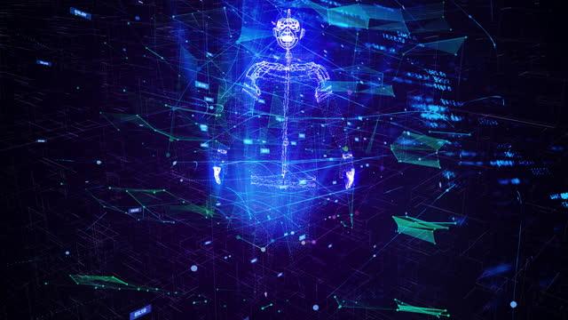 vídeos y material grabado en eventos de stock de bloque de bloques clon de inteligencia artificial - cadena de bloques