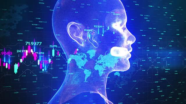 künstliche intelligenz klon blockchain - fuel and power generation stock-videos und b-roll-filmmaterial