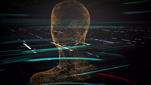 artificial intelligence digital avatar - human head stock videos & royalty-free footage