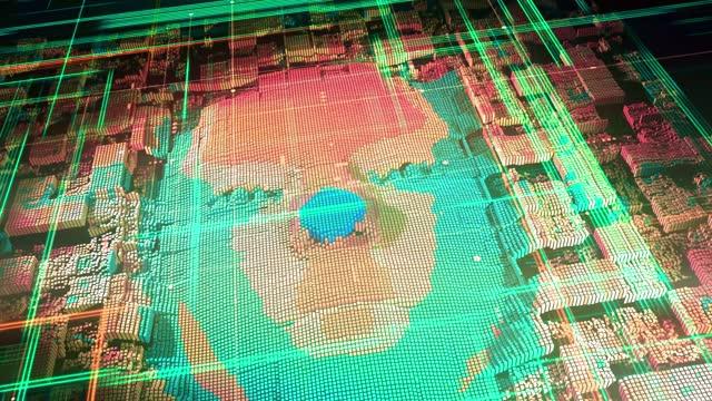 artificial intelligence digital avatar - cerebral hemisphere stock videos & royalty-free footage