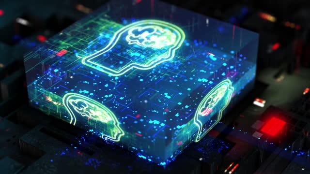 künstliche intelligenz, digitales gehirn - cerebellum stock-videos und b-roll-filmmaterial