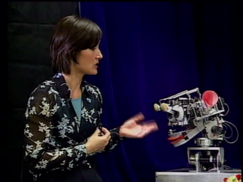 artificial intelligence itn i/c int dr cynthia breazeal talking to robot dr cynthia breazeal interview sot robots will continue to become smarter... - human limb stock videos & royalty-free footage