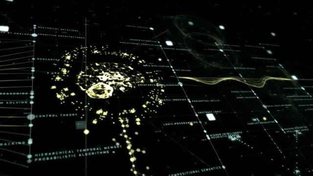 vídeos de stock, filmes e b-roll de artificial intelligence tecno grid - imitação