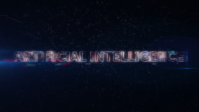 Artificial Intelligence words animation