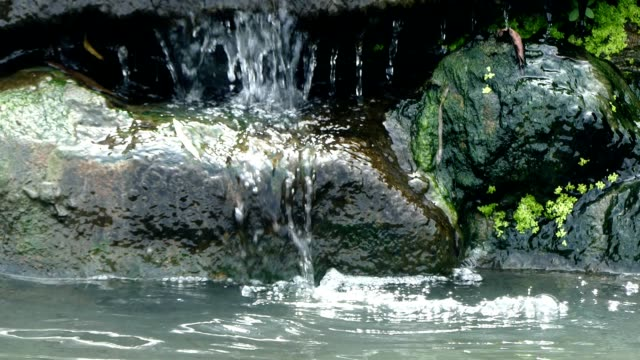 artificial waterfall in the pond - nightdress stock videos & royalty-free footage
