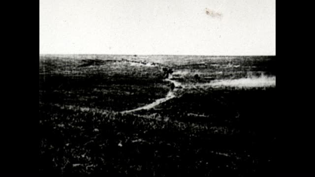Artillery and mines in WWI from a Signal Corps official film