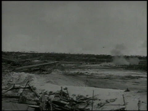 s artillery cannons firing from southern saipan explosion on tinian island hills world war ii wwii pacific front mariana islands - mariana islands stock videos and b-roll footage