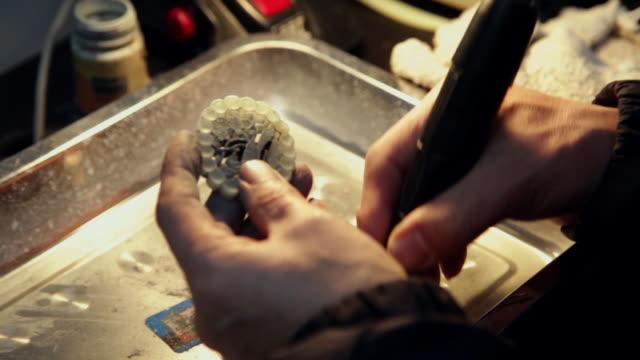 cu artisan carving jade / xi'an, shaanxi, china - gem stock videos and b-roll footage