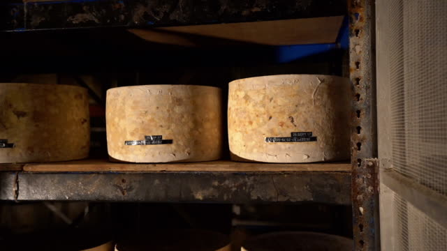 artisan cheddar being matured - cheddar gorge stock videos & royalty-free footage