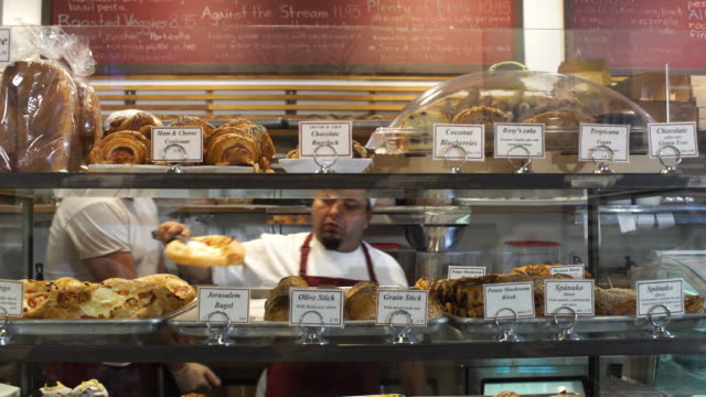 artisanal bakery 2 - display cabinet stock videos & royalty-free footage
