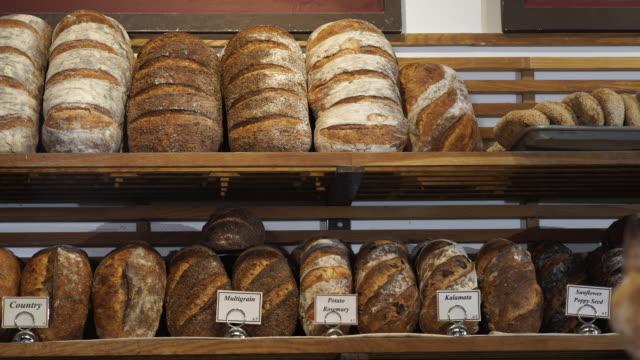 artisanal bakery - brot backen stock-videos und b-roll-filmmaterial
