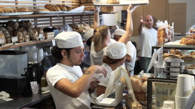 artisanal bakery - etnia latino americana video stock e b–roll