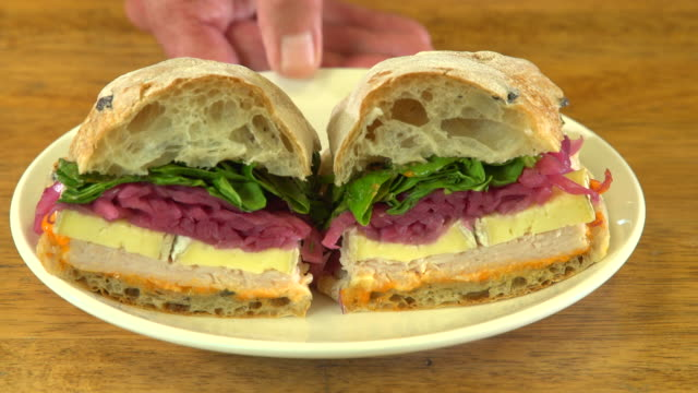 artisanal bakery - sandwich stock videos & royalty-free footage