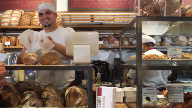 artisanal bakery - bäckerei stock-videos und b-roll-filmmaterial