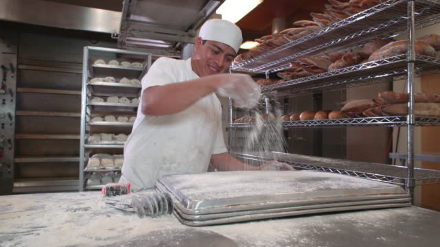 artisanal bakery - baking tray stock videos & royalty-free footage