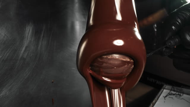 artisanal production of chocolates - hot chocolate stock videos & royalty-free footage