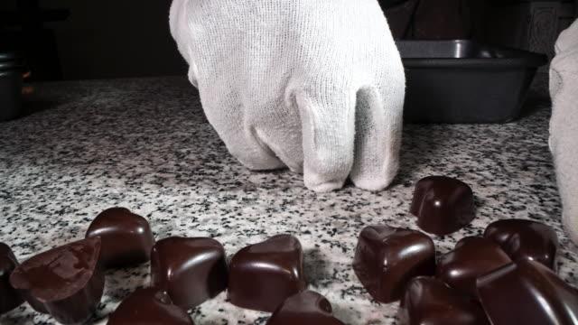 artisanal production of chocolates - pistachio nut stock videos & royalty-free footage