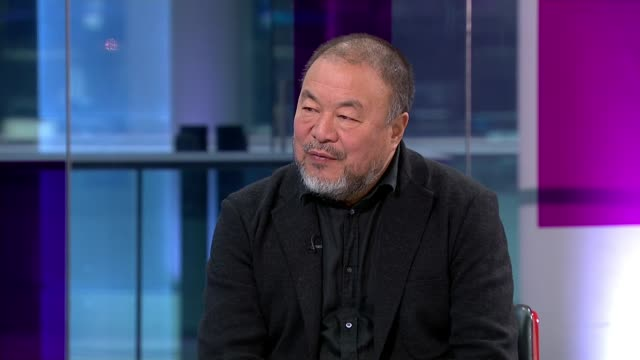 Artist Ai Weiwei makes film about mass migration 'Human Flow' Ai Weiwei interview continues SOT Reporter and Ai Weiwei