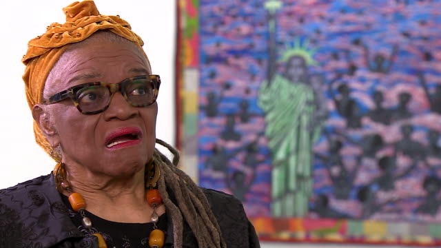 Artist Faith Ringgold saying she would paint 2019 USA in multi multi multicolours