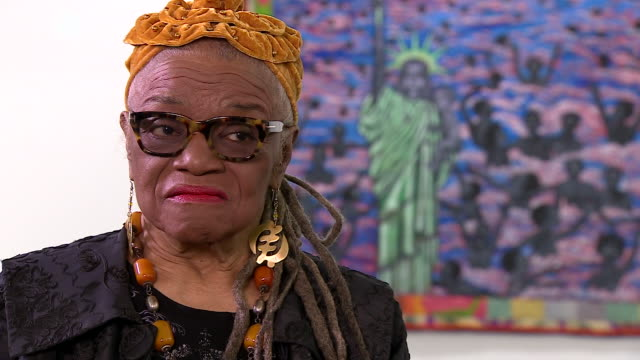Artist Faith Ringgold saying there is beauty in truth