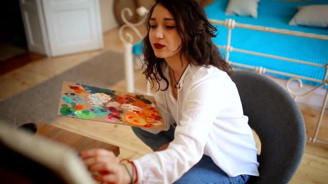 Artist in creative mood