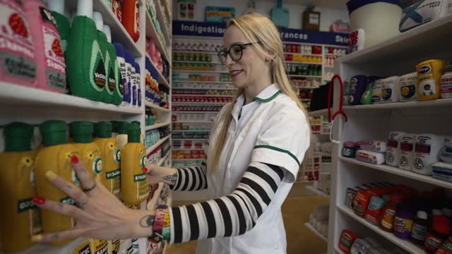 artist lucy sparrow presents art installation where all items within her chemist gallery space are made from felt on april 29, 2021 in london,... - group of objects stock videos & royalty-free footage