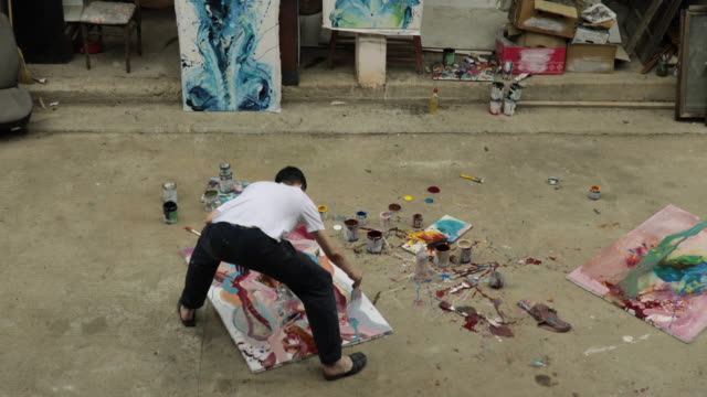 künstler malen - leidenschaft stock-videos und b-roll-filmmaterial