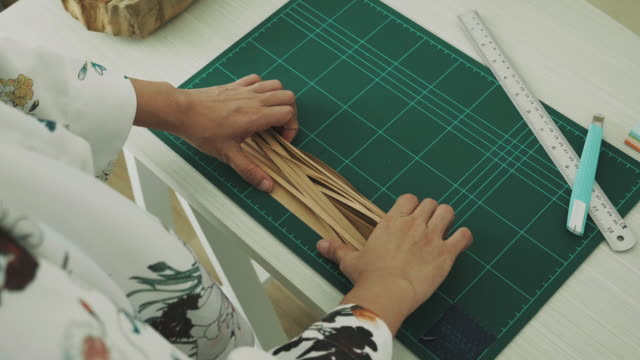 artist prepare paper for making art and craft product - art and craft product stock videos & royalty-free footage