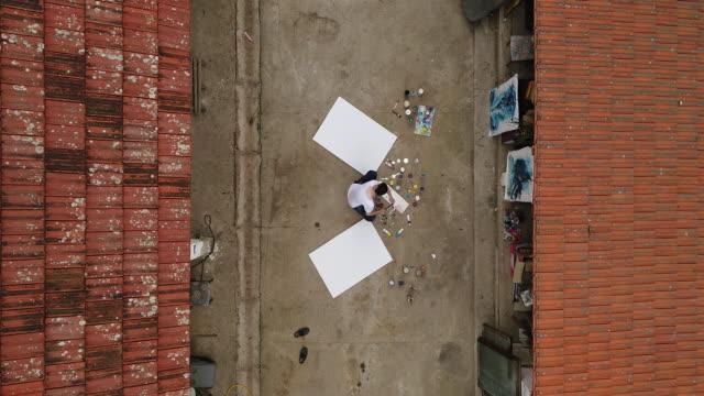 Künstler arbeiten auf der Straße