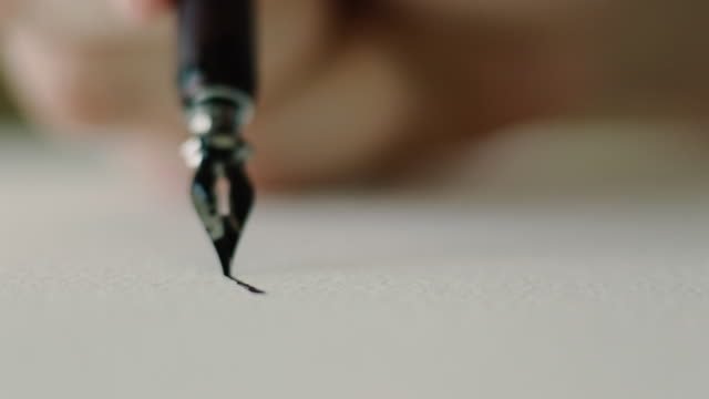 artist working - fountain pen stock videos & royalty-free footage