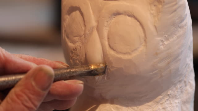 artist working with tool for perfect shape - mallet hand tool stock videos and b-roll footage