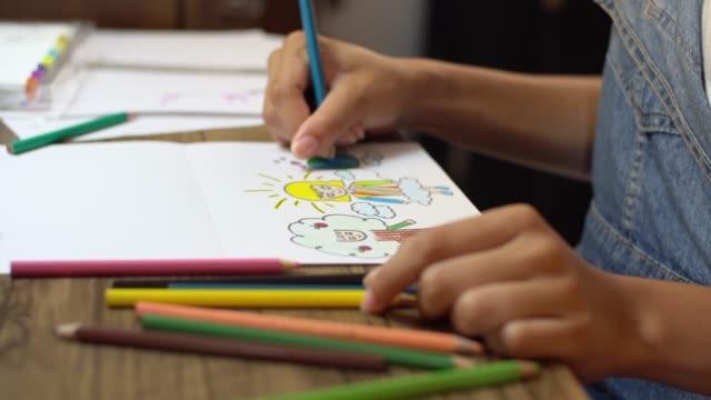 vídeos de stock, filmes e b-roll de criatividade artística - desenhar atividade