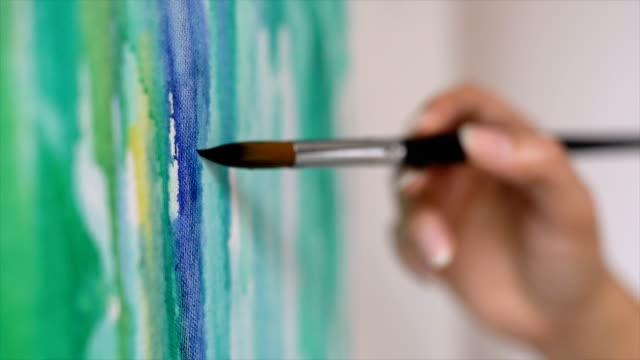artistic expression - painting activity stock videos & royalty-free footage