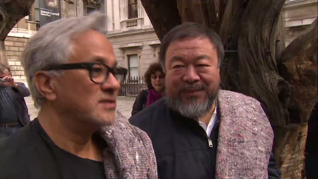 Artists Anish Kapoor and Ai Weiwei lead solidarity march for the 60 million refugees across the globe Shows interview with artists about their...