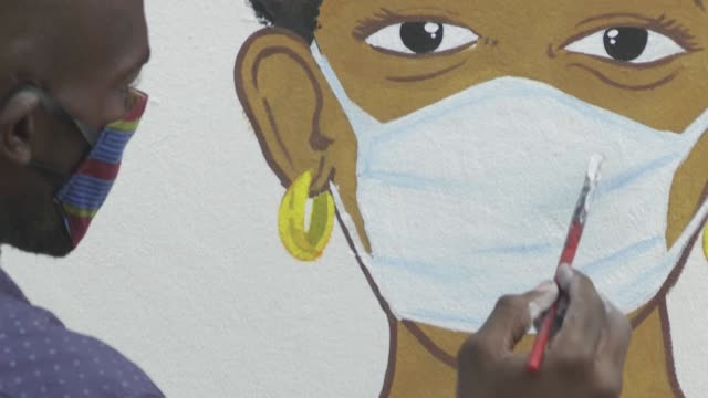 DRC: DR Congo: artists paint frescoes to raise awareness against COVID-19