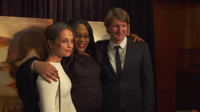"""artists / """"champions of change"""" at white house event featuring special screening of """"the danish girl"""" and """"transparent"""" at burke theater at u.s. navy... - ブラッドリー ウィトフォード点の映像素材/bロール"""
