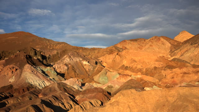 artists palette in death valley national park timelapse - death valley national park stock videos & royalty-free footage