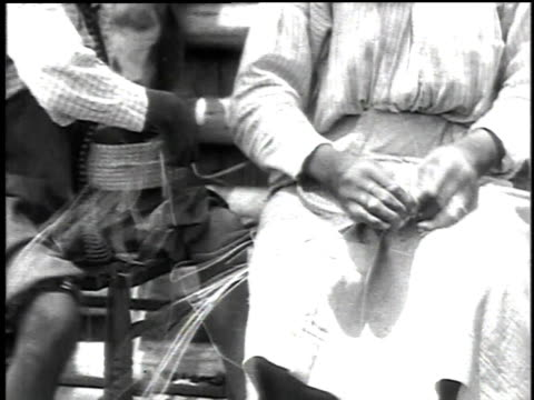 1916 cu artists weaving baskets / democratic republic of congo - 1916 stock videos & royalty-free footage