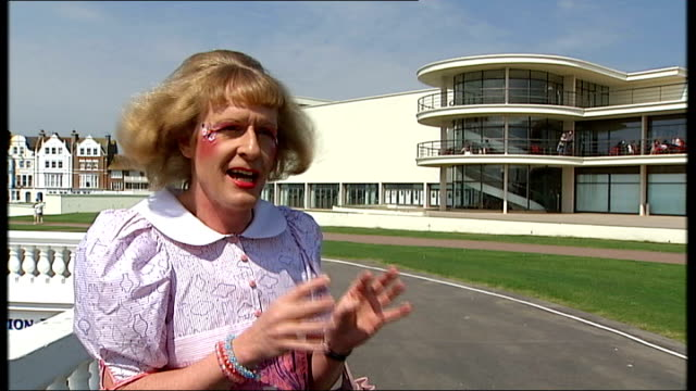 arts council touring exhibits / grayson perry interview; - that version of britishness is treasured / a certain type of britishness such as the... - spokesman stock videos & royalty-free footage