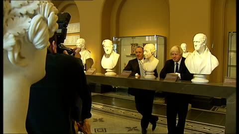 kevin spacey and boris johnson speak at v&a museum seminar; england: london: victoria and albert museum: int **beware flash photography** kevin... - financial item stock videos & royalty-free footage
