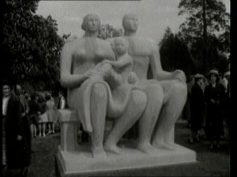 henry moore death; arts: henry moore death; b/w of sculpture unveiled; intvw henry moore; moore at work; - henry moore stock videos & royalty-free footage