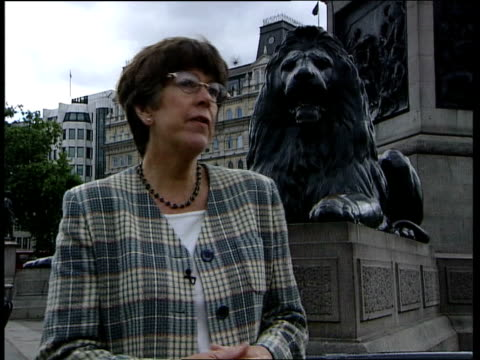 trafalgar square 4th statue prue leith interview sot everybody is terrified of criticism - prudence leith stock videos & royalty-free footage