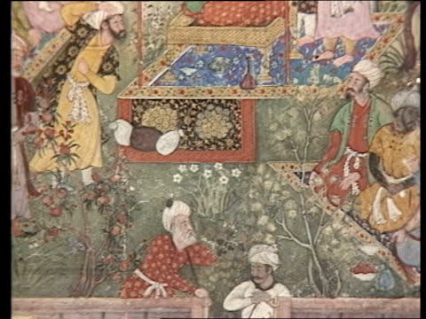 victoria and albert museum india gallery england london victoria and albert museum cs moghul painted miniatures tilt down cs ditto moghul man cs... - mughal empire stock videos and b-roll footage