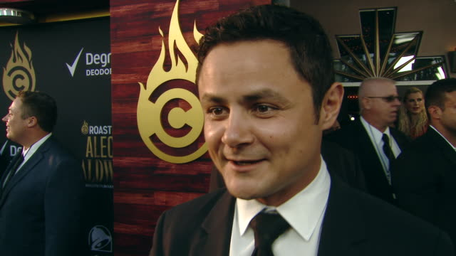 interview arturo castro on the event at the comedy central roast of alec baldwin in los angeles ca - alec baldwin stock videos & royalty-free footage