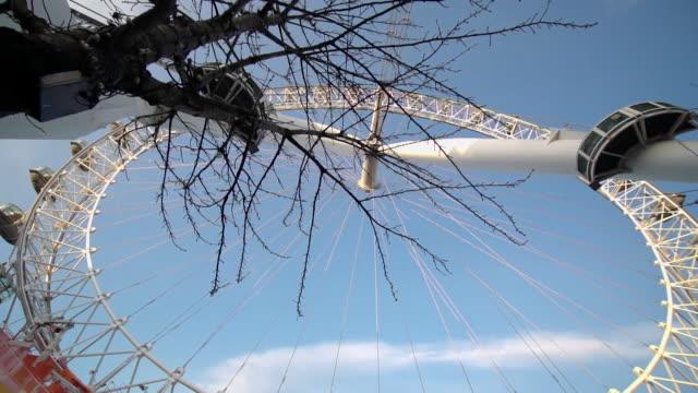 arty london eye - bare tree stock videos & royalty-free footage
