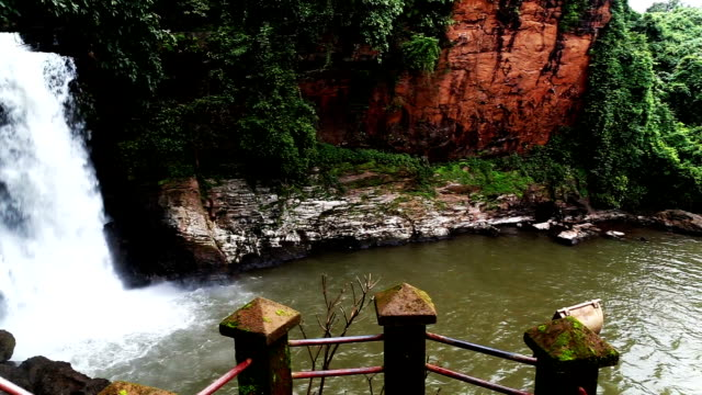arvalem waterfall in the nature in goa - goa stock videos & royalty-free footage